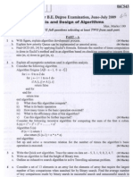 analysis and design of algorithm paper 3