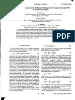 P. Winternitz et al- Nonlinear magnetization processes in the Landau-Ginzburg model of magnetic inhomogeneities for uniaxial ferromagnets