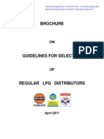 Selection Guidelines for Regular LPG Distributor Ship April 2011
