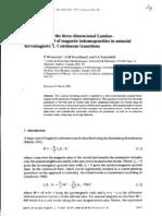 P. Winternitz et al- Exact results in the three-dimensional Landau-Ginzburg model of magnetic inhomogeneities in uniaxial ferromagnets