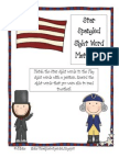 Star Spangled Sight Word Match Up Game
