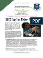 USAF Cyber-Threat 2012