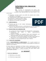 ESTRATEGIAS PARA ORGANIZAR INFORMACIÓN