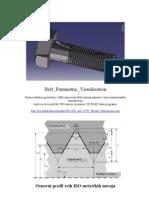 Catia - Bolt Parametric Visualisation