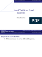 Separation of Variables Bessel