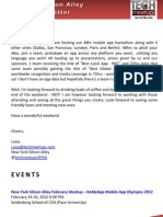 New York Silicon Alley Weekly Newsletter 17-February-2012