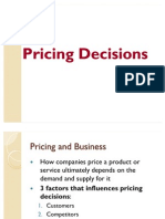 Pricing Decision Report