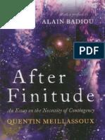 Meillassoux After Finitude