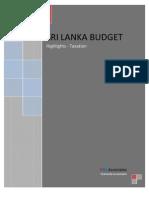 Sri Lanka Budget 2012 Highlights