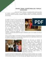 15 -25 Aniversario de La Escuela Sec Und Aria Vicente PeÑaloza