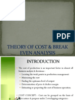Theory of Cost & Break  Analysis