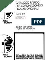 65308325 ALFA ROMEO GIULIA Pagine Catalogo Ricambi Alfa 1974