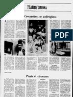 Dzi Croquettes, os andróginos [Correio da Manhã, 3 de Dezembro de 1972]