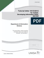 INS 1502 Tutorial Letter 101