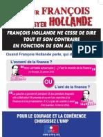 Tract de l'UMP pour le meeting de Marseille, le 19 février