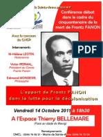 Conférence débat dans le cadre du cinquantenaire de la mort de Frantz FANON