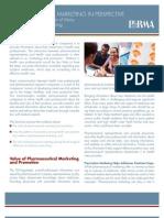 PhRMA Marketing Brochure Influences on Prescribing FINAL