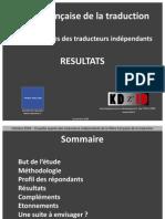 Resultats Enquete Filiere Traduction Tradonline Kdzid