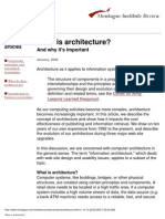 What is architecture, and why it's important