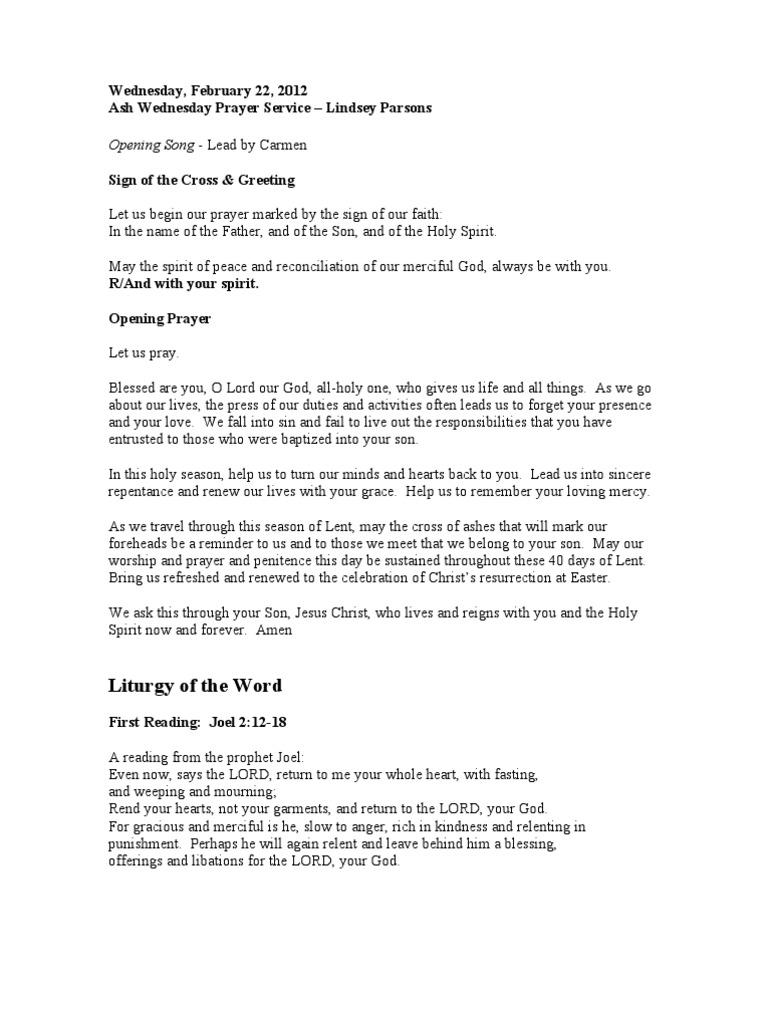 Ash Wednesday 22 Feb 2012   Prayer   Jesus