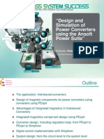 Design and Simulation of Power Converters