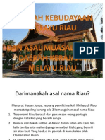 Sejarah Kebudayaan Melayu Riau