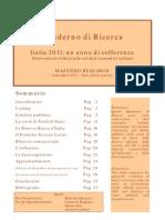 Italia 2011 Un Anno Di Sofferenza