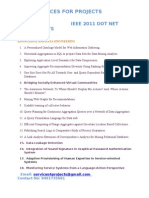 Dot Net Ieee 2011 Projects Lists(1)