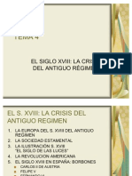++++ El Siglo XVIII, La Crisis Del Antiguo Regimen.