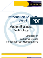 Intro to TSQL - Unit 4