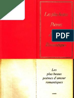 Les Plus Beaux Poèmes Damour Romantiques Poésie Française