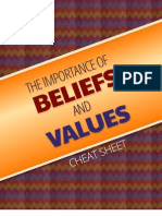 The Importance of Beliefs and Values Cheatsheet