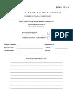 CSEC Food&Nutrition SBAForm PlanSheetHE-5 (2)
