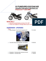 Bmw f650 Funduro Gs Dakar Price List 15609