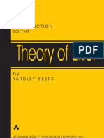 Introduction ToThe Theory of Error - Yardley Beer