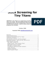 Stock Screening for Tiny Titans