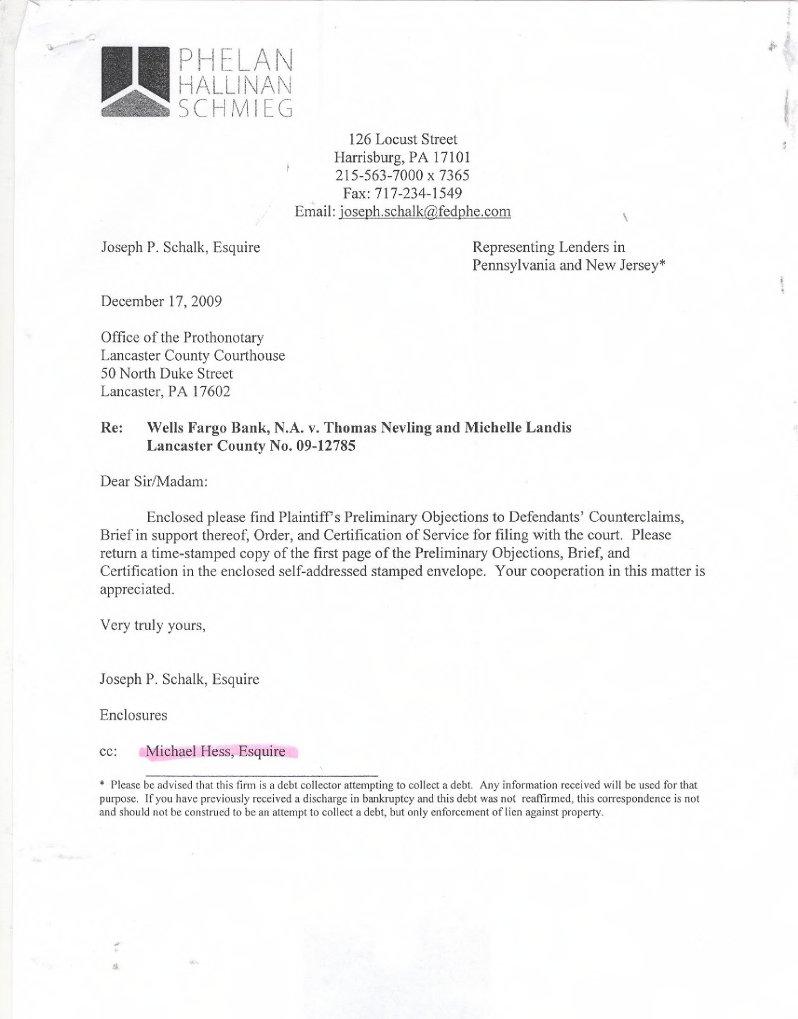 Sample Phelan Foreclosure Case P.O. Brief