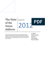 Analysis of President Obama's 2012 State of the Union Address 012412