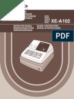 Registrierkasse Sharp XEA102 OM GB de FR ES NL