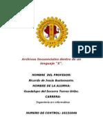 Archivos Secuenciales Dentro de Un Lenguaje x Res