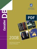 Univ of South Australia Edba Brochure