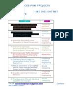 Dot Net Ieee 2011 Projects Lists(5)