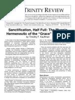 Review 304 Sanctification Half Full - Kauffman