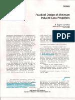Minimum Induced Loss Propeller E. Larrabee