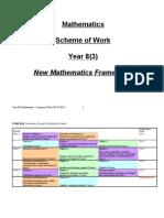 Schemes of Work Year 8(3) - 07-07-2011