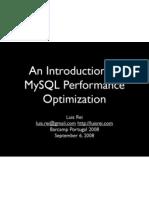 An Introduction To MySQL Performance Optimization