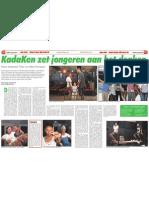 KadaKen zet jongeren aan het denken (AD 18 feb 2012)