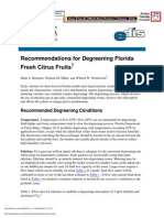 Recommendations for Degreening Florida Fresh Citrus Fruits