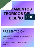 FUNDAMENTOS  TEORICOS DEL DISEÑO 1