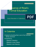 Rizal - Early Education